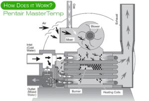 A diagram of the pentair mastertemp.